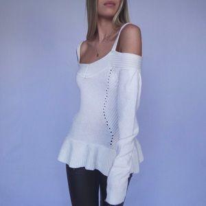 Chelsea28 Cold Shoulder Sweater